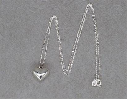 Silver Necklaces Sterling Necklace Puffy Heart