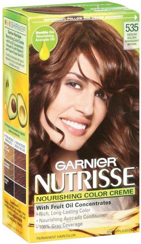 garnier nutrisse haircolor  med golden mahogany brn
