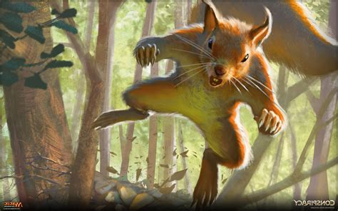 Animal Magic Wallpaper - magic the gathering magic animals squirrel daniel
