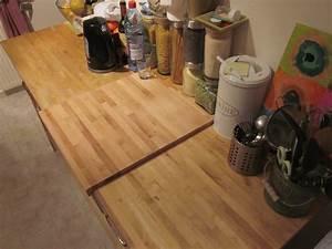 Plan Travail Ikea : plan de travail bois ikea coeur dunivernais ~ Carolinahurricanesstore.com Idées de Décoration