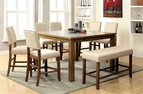 piece melston counter height dining set  bench