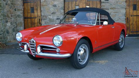 1960 Alfa Romeo by 1960 Alfa Romeo Giulietta Spider Fully Restored