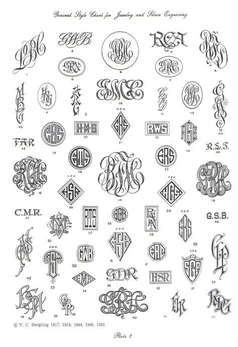 pin  melanie osborn  engraving monogram fonts tattoo lettering fonts embroidery monogram