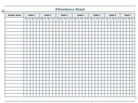 attendance sheet templates word excel templates