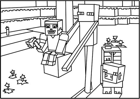 minecraft  kids minecraft kids coloring pages