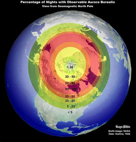 northern lights viewing map heavenly lights solar wind sends aurora borealis south