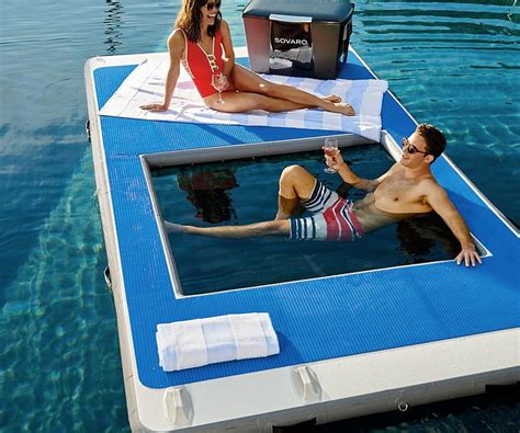 floating water hammock floating dock with water hammock gearnova 3781