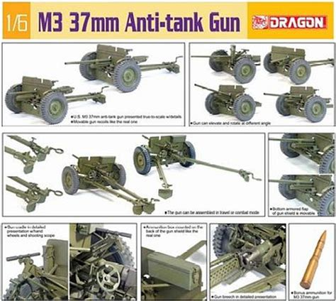 mm anti tank gun plastic model artillery kit