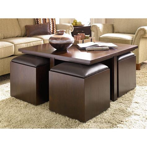 This coffee table is made of solid wood and has a contemporary design that can match a living room or square or round coffee tables are good for a variety of seating configurations, even the larger ones. Coffee table, extra storage, extra seating. All in one ...