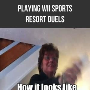 Wii Memes - playing duels on wii sports resort by warriorofthewind meme center