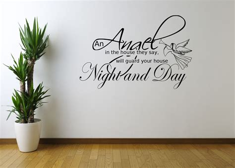 Angel Night Home Quote Art Wall Sticker Decal Mural