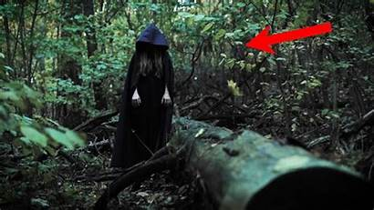 Forest Scary Woman Walking Te Deep Bote