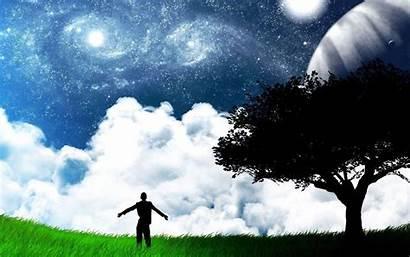 Alone Wallpapers Desktop Field Place Sky Happy