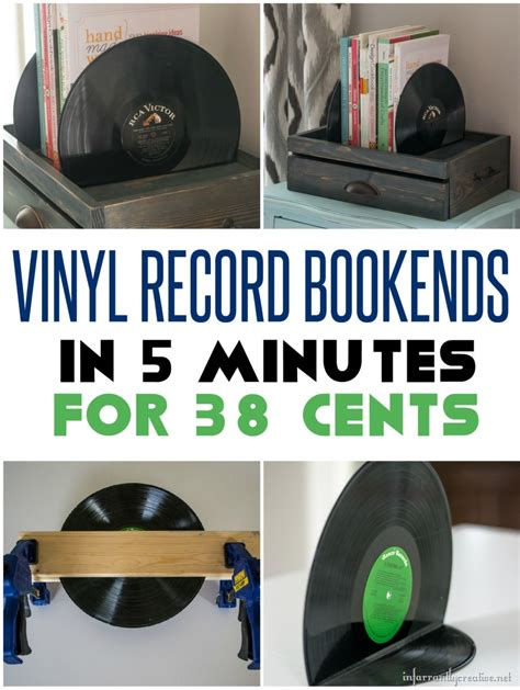 cents    minute vinyl record bookends