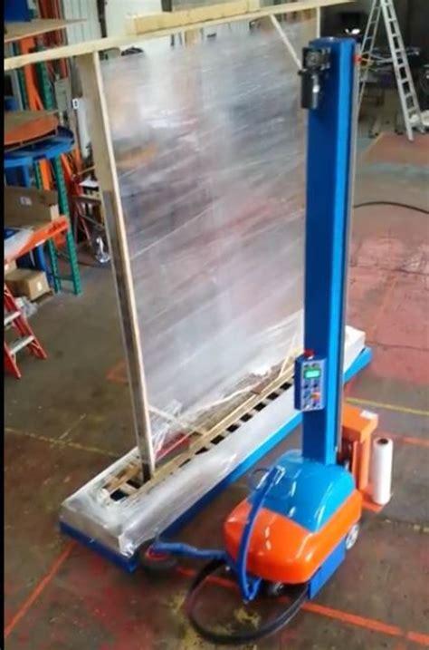 solutech intelli wrap semi automatic portable stretch wrapper  rpm excellent condition
