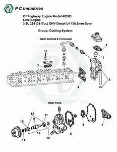 Off Highway Engine Model 4039d Litre Engine 3 9l 239  3917cc  Ohv Diesel L4 106 5mm Bore