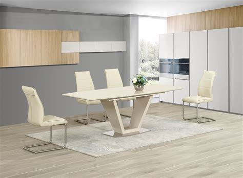 Stuhl Weiss Design by Ga Loriga Gloss Glass Designer Dining Table