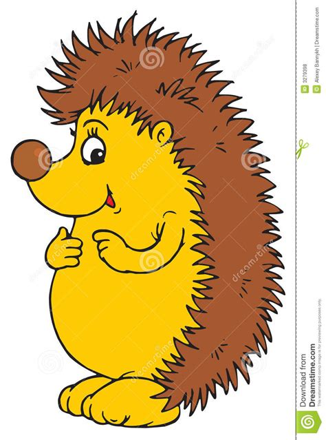 silly hedgehog character royalty  stock  image
