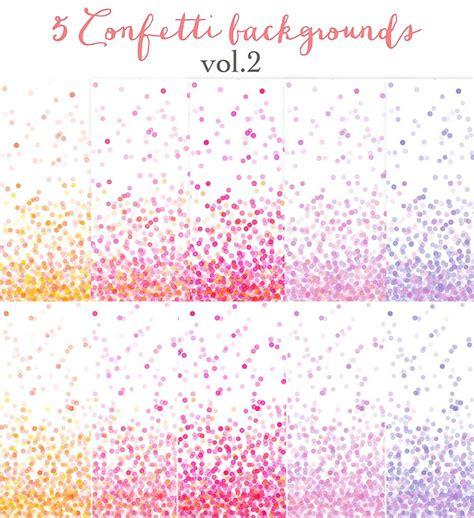 pink confetti backgrounds set