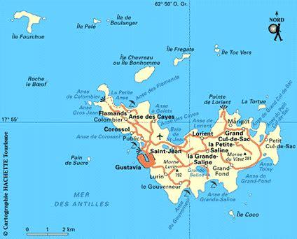 Carte Saint Barthélemy : Plan Saint Barthélemy Routard com
