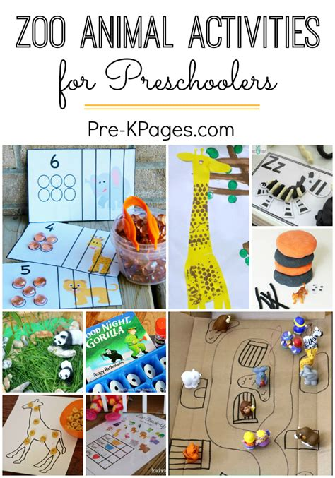zoo activities for preschoolers pre k pages 458 | Zoo Activities for Preschoolers
