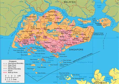 singapore map  satellite image