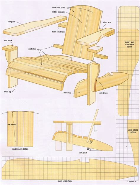 woodworking adirondack chair plans woodworking projects plans