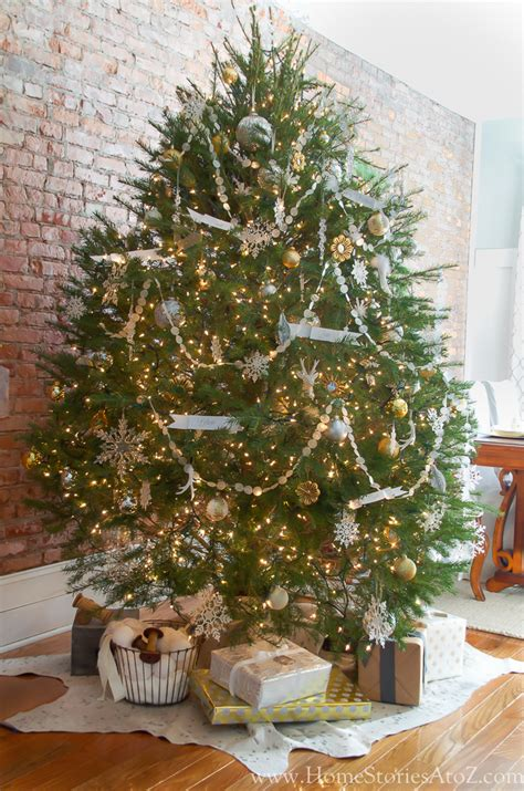 silver and gold tree christmas home tour part 1 home stories a to z