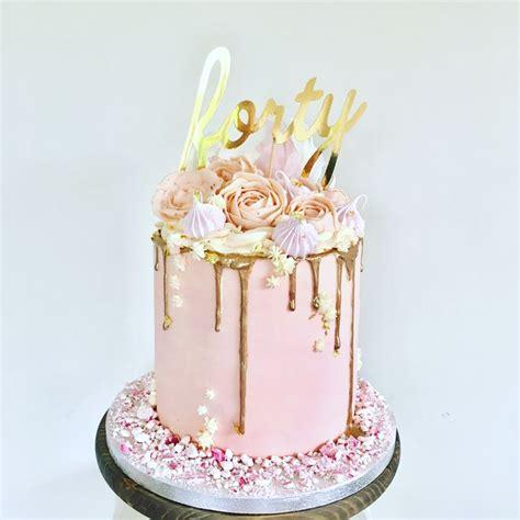 pink buttercream cake  buttercream flowers including