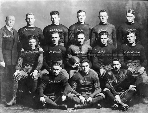 day  history rockne takes  reins moments  football university  notre dame
