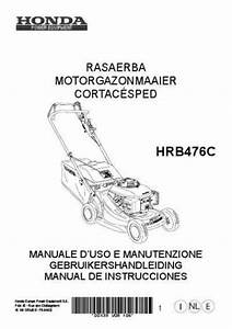 Honda Hrb476c Tools Download Manual For Free Now
