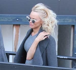 Pamela Anderson - Outside ITV Studios in London 2/13/ 2017