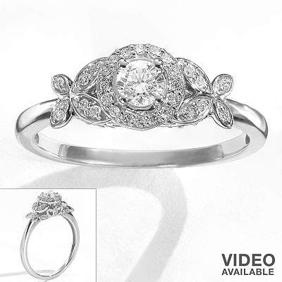 simply vera vera wang diamond flower halo engagement ring