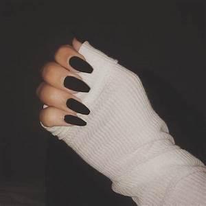 Matte Black Squoval Acrylic Nails | Nails 2 | Pinterest ...