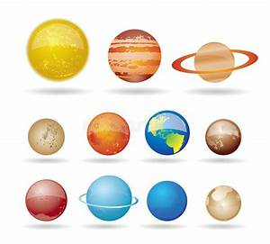Planets And Sun From Our Solar System Stock Vector ...