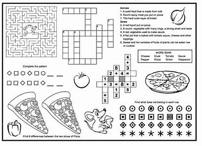 Menu Pizza Placemats Activity Restaurant Menus Restaurants