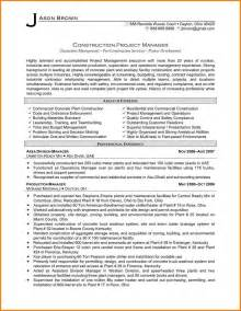 resume of a telecom project manager resume exles project manager