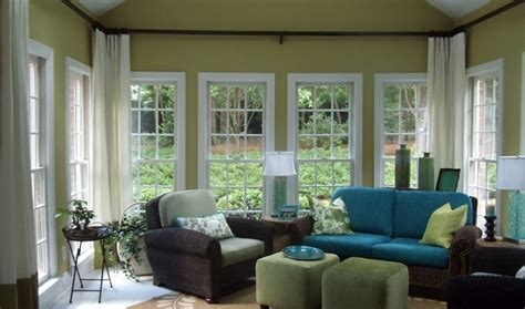 Interior Window Treatments by Sunroom Makeover On My List The Higher Curtain