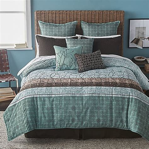 bryan keith wildwood comforter set in teal www