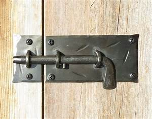 slide bolt door latch hand forged cabinet gate shed country With barn door slide bolt