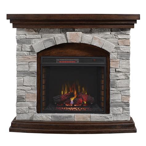 flat for fireplace shop duraflame 45 in w 5200 btu aged coffee mdf flat wall infrared quartz electric fireplace
