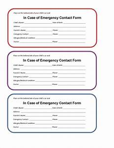 7 best images of printable emergency information form With emergency contact form template for child