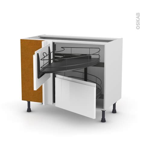 meuble cuisine tiroir coulissant meuble de cuisine angle bas ipoma blanc demi lune