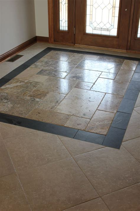 Small Foyer Tile Ideas by Custom Entryway Tile Design Kitchen Design