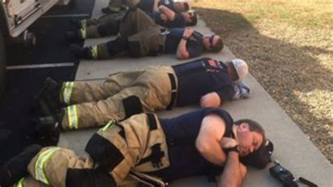 Image result for firefighters sleeping gatlinburg