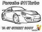 Coloring Pages Porsche Race 911 Gt Street Difficult Cars Printable Corvette Carrera Boys Realistic Yescoloring Rear Racecar Gusto Ta 2007 sketch template