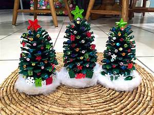 Decorate Pinecone Christmas Trees - Crafty Morning