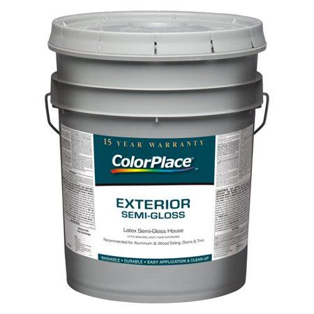 Colorplace Exterior Semigloss White Paint, 5 Gal