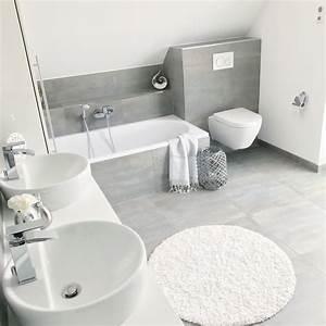 Badezimmer Fliesen Grau Weiß : instagram landhaus badezimmer bathroom ~ Watch28wear.com Haus und Dekorationen