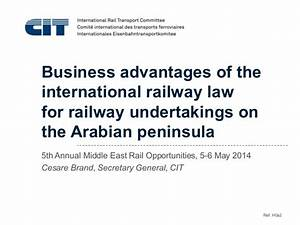 Business advantages of the international railway law for ...
